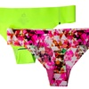 Women's Performance No-Show Bikinis and Thongs (2-Pack) (Size M)