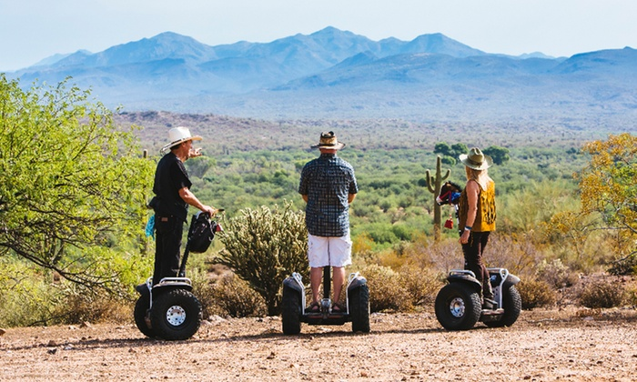 Adventures Out West - Multiple Locations: $52 for Off-Road Desert or City-Slicker Segway Tour from Adventures Out West ($85 Value)