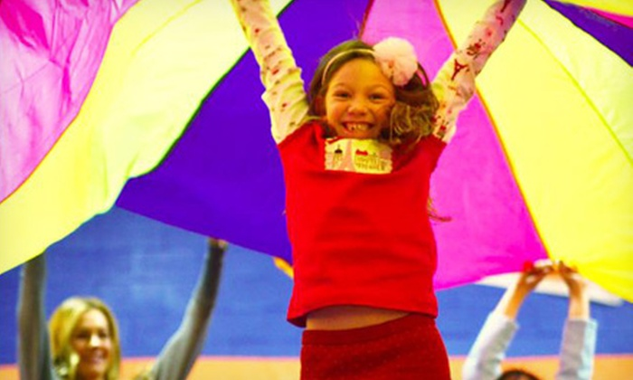Sky Zone - Riverside : Kids' SkyCamp at Sky Zone (Up to 61% Off). Five Sessions Available.