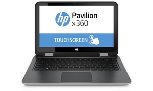 """Hp Pavilion X360 13.3"""" Convertible Notebook With 1.8ghz Amd A6 Apu, 4gb Ram, And 500gb Hdd (manufacturer Refurbished)"""