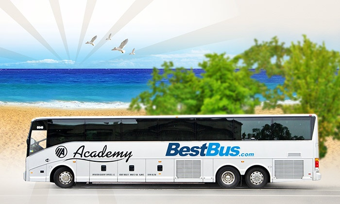 BestBus - Multiple Locations: $55 for Round-Trip Bus Ride from Washington, DC to Delaware's Beaches from BestBus ($90 Value)