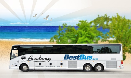 $55 for Round-Trip Bus Ride from Washington, DC to Delaware's Beaches from BestBus ($90 Value)