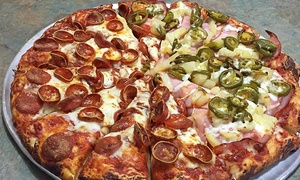 Mountain Mikes Pizza: Two Large Pizzas or One Two-Topping Pizza and Pitcher of Beer at Mountain Mikes Pizza - Campbell (Up to 56% Off)