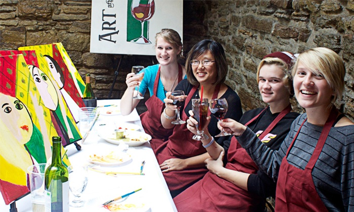Art & Elixir - Minneapolis / St Paul: Painting Class at Restaurant for One or Two from Art & Elixir (Up to 46% Off)