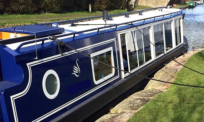 Blue Swan Boat Hire - The Saracens Head: 90-Minute Canal Cruise with Afternoon Tea for One, Two or Four with Blue Swan Boat Hire (Up to 64% Off)