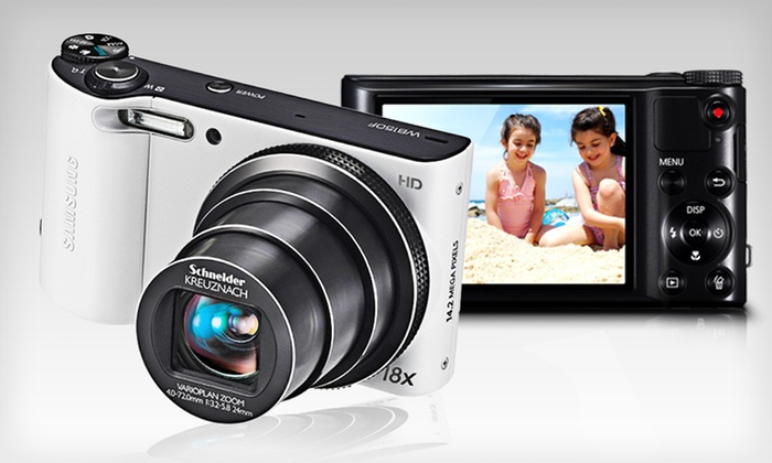 Samsung 14-Megapixel Digital Camera: $149 for a Samsung 18x Zoom 14 MP Camera in Black or White with an 8 GB MicroSD Memory Card ($249.98 List Price). Free Shipping.