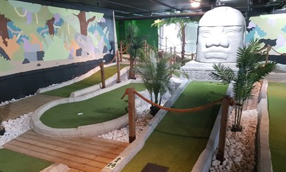 18 Holes of Crazy Golf for One, Two or Family of Four at Jungle Rumble Adventure Golf Leeds (Up to 40% Off)