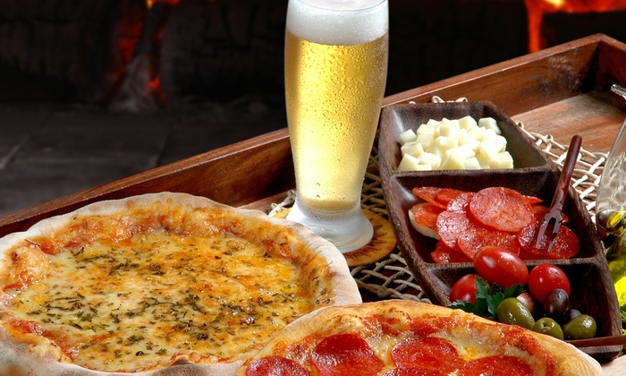 Papa Saverio's - Wayne: Pizza Meal for Two or Four with Drinks at Papa Saverio's Pizzeria (Up to 51% Off)