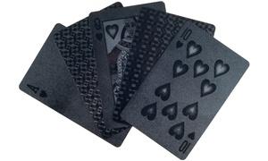 Devil Black Embossed Playing Cards