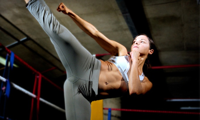 Hip + Fit - Multiple Locations: 5 or 10 Women's Kickboxing Boot-Camp Classes at Hip + Fit (Up to 75% Off)