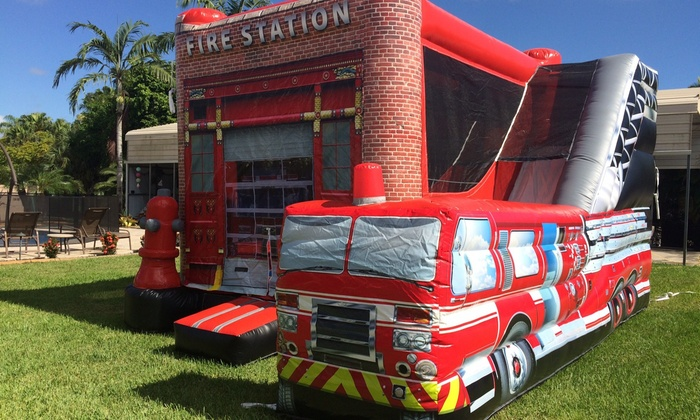 Magnificent Fire House Bounce Houses Interior Design Ideas Lukepblogthenellocom