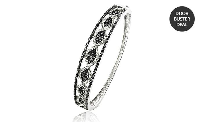 1 ct.tw. Black and White Diamond Bangle Bracelet: 1 ct.tw. Black and White Diamond Bangle Bracelet. Free Returns.