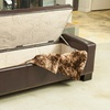 Jaxson Leather Storage Ottoman with Studded Accents