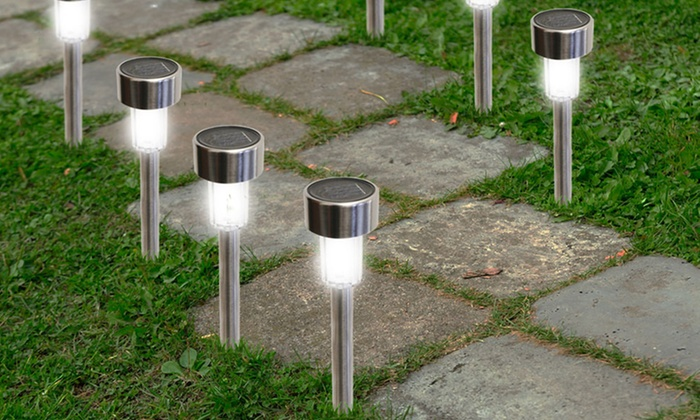 Solar Garden Path Lights Groupon Goods