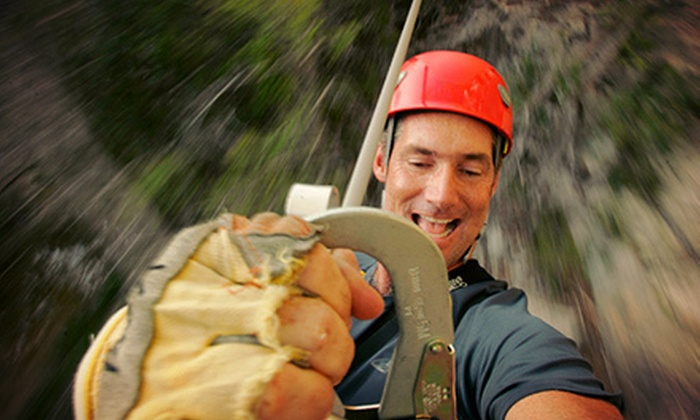 Cypress Valley Canopy Tours - Southwest Travis: $59 for a Zipline Canopy Tour and T-Shirt from Cypress Valley Canopy Tours ($95 Value)
