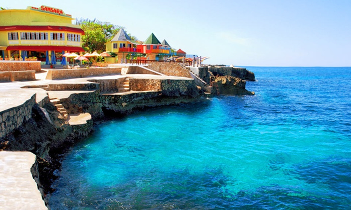 All-Inclusive Samsara Cliff Resort Stay with Airfare from Vacation Express - Negril, Jamaica: 4- or 6-Night All-Inclusive Stay with Airfare. Includes Taxes and Fees. Price/Person Based on Double Occupancy.