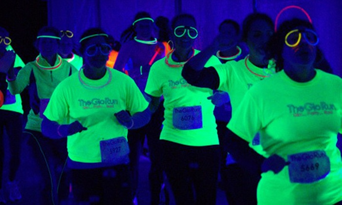 The Glo Run Washington DC - Multiple Locations: $39 for Entry to The Glo Run Washington DC 5K on Saturday, April 20, and a Fluorescent Quarter-Zip Pullover ($78 Value)