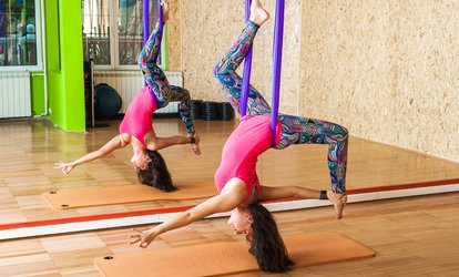 image for Five, Ten, or One Month of Unlimited Aerial Yoga <strong>Classes</strong> at You Are Yoga Studio (Up to 66% Off)