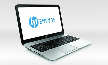 "groupon daily deal - HP Envy 15.6"" TouchSmart 15-j052nr Notebook with Intel Core i7-4700M Processor (Manufacturer Refurbished). Free Returns."