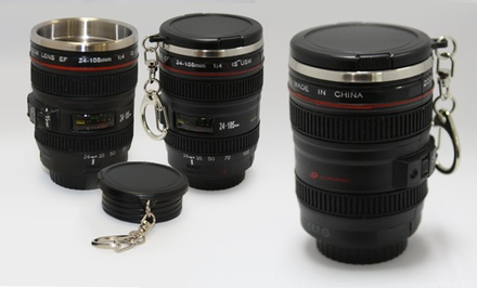 Set of 3 Mini-Camera-Lens Shot Glasses. Free Returns.
