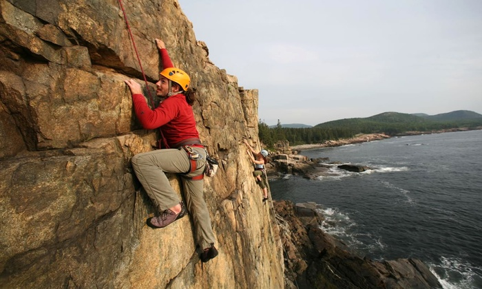 Acadia Mountain Guides Climbing School - Bar Harbor: Half-Day Rock-Climbing Trip for Two, Three, or Four from Acadia Mountain Guides Climbing School (Up to 41% Off)