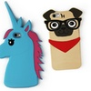 Teddy Bear, Cat, Pug, or Unicorn Silicone Cases for iPhone 6/6s