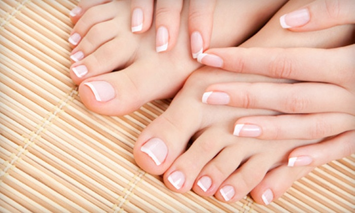 Shampoo Salon - Shrewsbury: One or Two Mani-Pedis with Optional Shellac Manicure Upgrade at Shampoo Salon in Shrewsbury (Up to 57% Off)