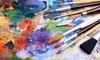 """Malort Auszeit - Malort Auszeit: 3 Std. Power-Painting """"Abstrakter Expressionismus"""" für 1 oder 2 Personen bei Malort Auszeit (65% sparen*)"""