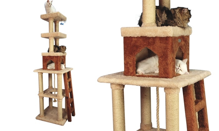 Armarkat cat trees and pet steps groupon for Cat tree steps