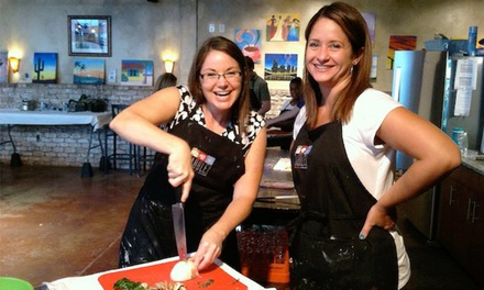 Painting and Cooking Class for One or Two at Dabble Studio (Up to 38% Off)