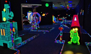 Galaxy Glow Mini Golf: Two Rounds of Glow-in-the-Dark Mini Golf for 2 or 4 or Party Package at Galaxy Glow Mini Golf (Up to 50% Off)