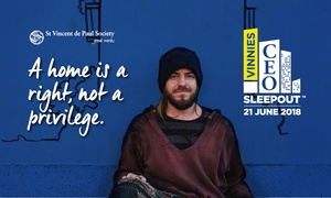St.Vincent de Paul Society: Donate $15 or up to $155 to Vinnies CEO Sleepout to Help Fight Homelessness