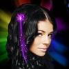 4-Pack of LED Flashing Fiberoptic Hair Braids