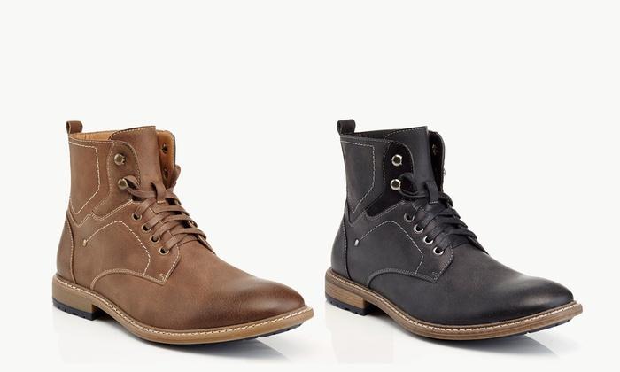 Solo Richard Men's Lace-Up Combat Boots