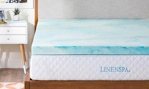 Linenspa Gel Swirl Memory-Foam Mattress Topper