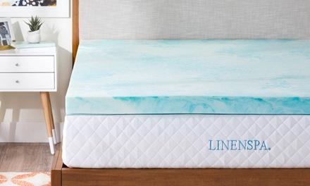 Linenspa Gel Swirl Memory-Foam Mattress Topper (Multiple Options Available)