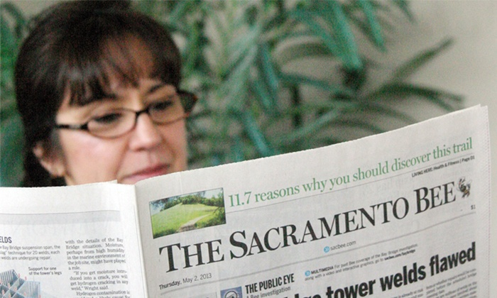 "The Sacramento Bee: $25 for 25-Week Subscription to Sunday Print & Digital Editions of ""The Sacramento Bee"" ($92.70 Value)"