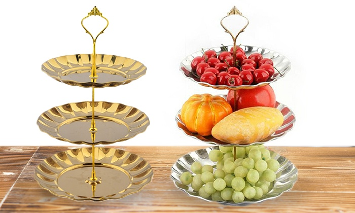 Groupon Gold Cake Stand