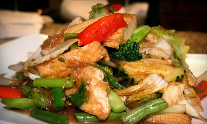 Buri Tara Thai Cuisine - Multiple Locations: Thai Food at Buri Tara Thai Cuisine (Up to 52% Off). Two Options Available.