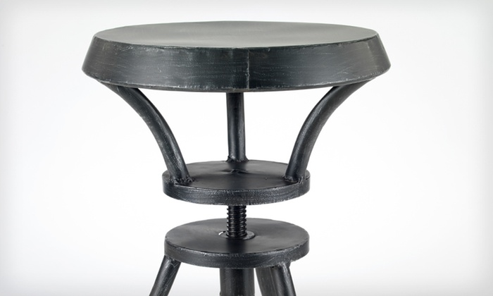 Adjustable Iron Barstool: $69 for an Adjustable Iron Barstool ($179.99 List Price). Two Styles Available. Free Shipping and Free Returns.