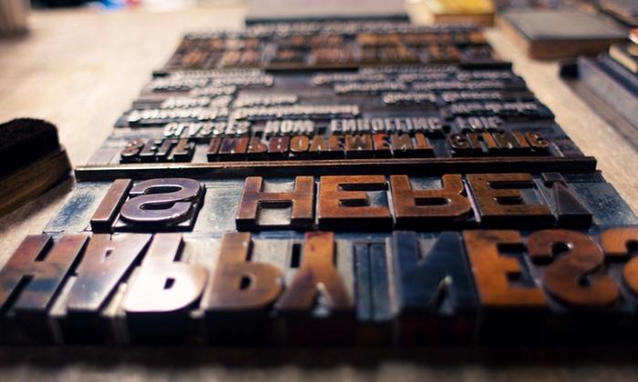Horwinski Printing Company - Oakland: Letterpress Workshop for One or Two at Horwinski Printing Company (50% Off)