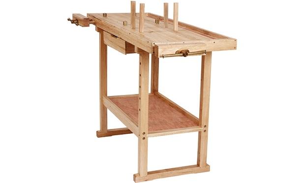 Table de travail en m tal ou bois groupon for Table travail bois