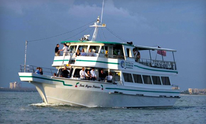 "Fort Myers Princess - Fort Myers Beach: $25 for a Dolphin Tour or Party Cruise for Two on ""The Fort Myers Princess"" in Fort Myers Beach (Up to $50.10 Value)"