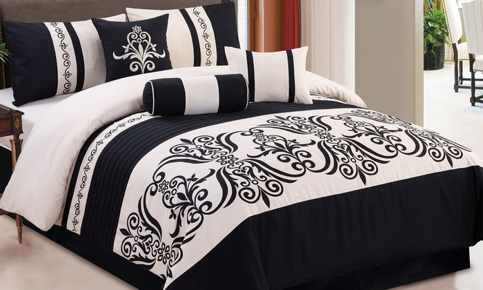 Embroidered Comforter Sets Groupon Goods