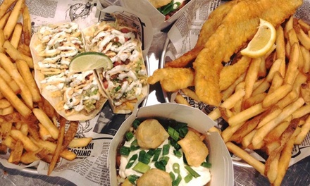 Fish 'n' Chips, Poutine, and Tacos for Two or Four at Joey's Urban (50% Off)