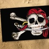 "30"" x 60"" Skull and Cross-Bone Cotton Beach Towel"
