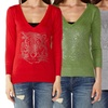 Patterned Women's Long-Sleeve Sweater Tops