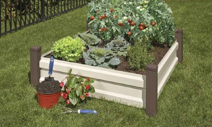 Spacemaker raised garden bed groupon goods for Gardening 4 less groupon