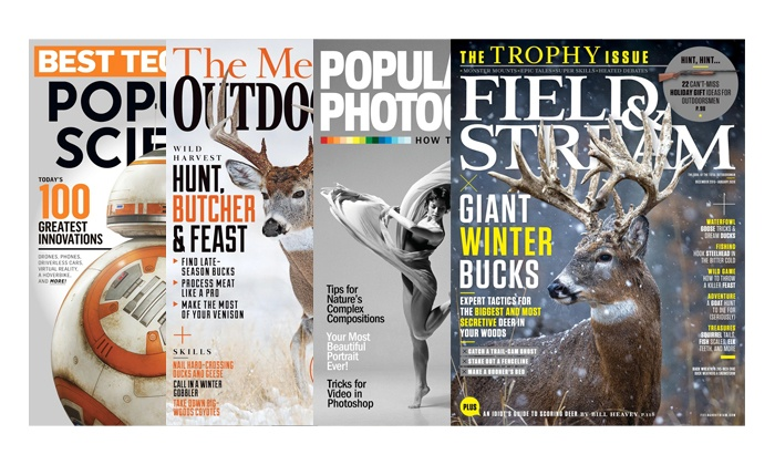 Blue Dolphin Magazines: One-Year Subscription to Field & Stream, Outdoor Life, Popular Science, or Popular Photography (Up to 50% Off)