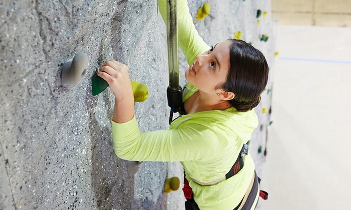 Redmond Athletic Club - Downtown Redmond: Intro to Rock Climbing Class, or 12 Visits with Shoe and Harness Rental at Redmond Athletic Club (Up to 68% Off)